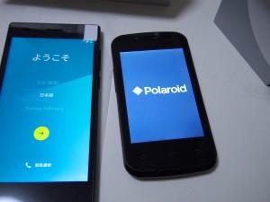 フリーテル SAMURAI 雅(miyabi)とPolaroid piguのディスプレイ