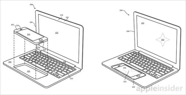 iPhoneをMacBookにドッキング
