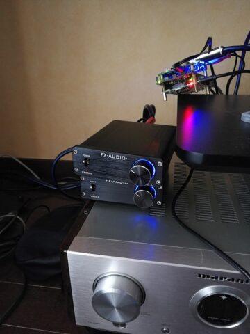 2台重ねたFX202JとHD-AMP1