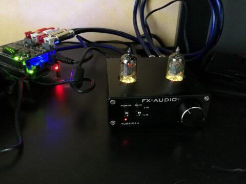 真空管アンプ TUBE-01JとAllo Piano 2.1を接続