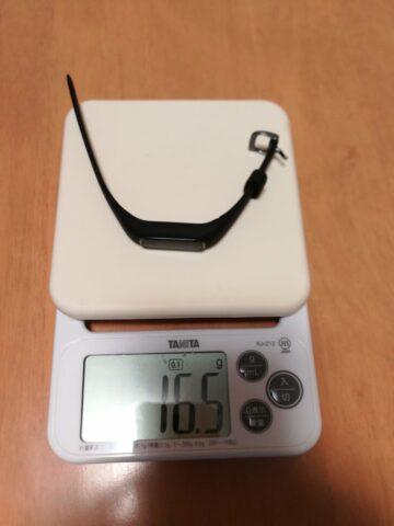 Garmin vivosmart4の重量