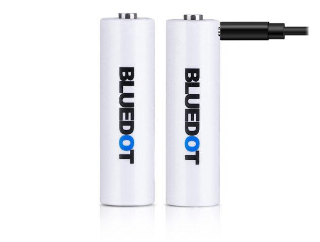 BLUEDOTのリチウムイオン充電池の乾電池