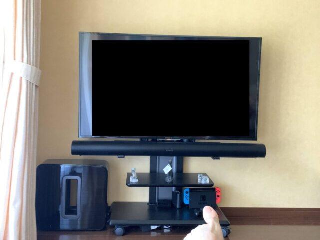 Sonos ArcとSonos Subをテレビに設置したところ